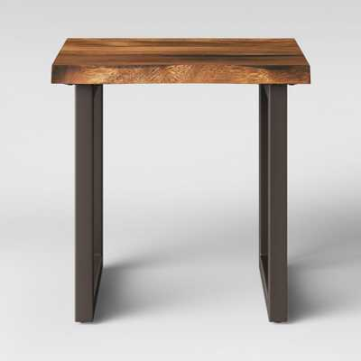 Thorald Wood Top End Table With Metal Legs Brown - Project 62 - Target