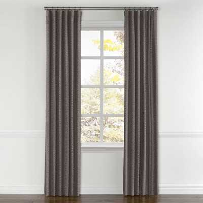 Convertible Drapery Tobi Fairley Pearl - Graphite Pair, Split Draw- Privacy Lined - Loom Decor