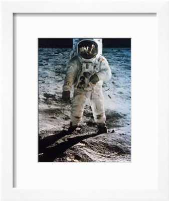 "Apollo 11: Buzz Aldrin 9"" x 12"" Soho White Frame - art.com"
