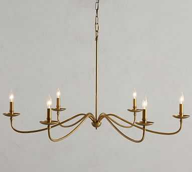 Lucca Chandelier, Gold - Pottery Barn