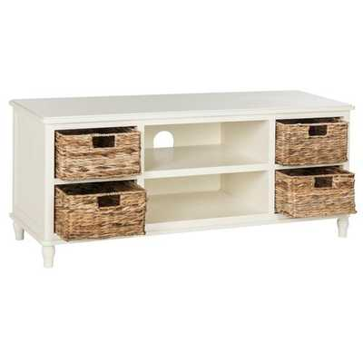 "Santa Cruz Solid Wood TV Stand for TVs up to 55"" - Birch Lane"