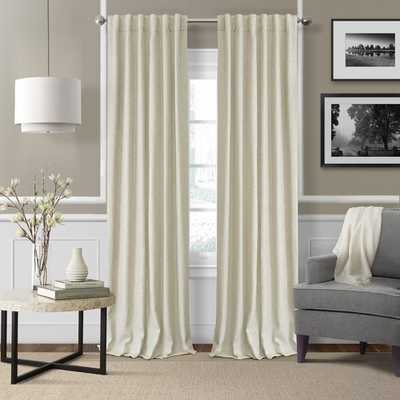 Aston Solid Room Darkening Thermal Rod Pocket Single Curtain Panel - Wayfair