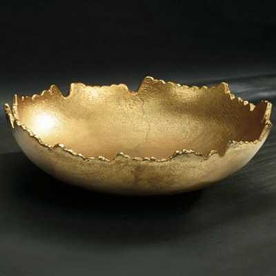 Buckelew Gilded Torn Texture Decorative Bowl - Wayfair