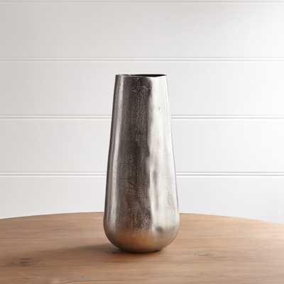 Element Metal Silver Vase - Crate and Barrel