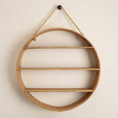 Natural Round Wood Wall Shelf - World Market/Cost Plus