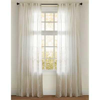 Cinglia Sheer Striped Rod Pocket Single Curtain Panel - Perigold