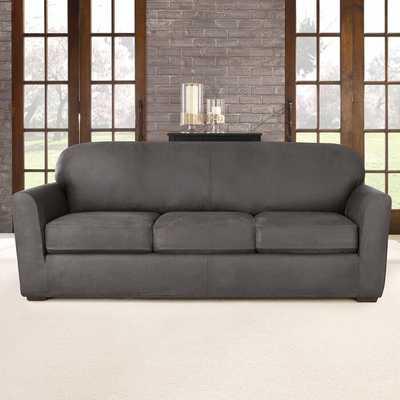Ultimate Stretch Box Cushion Sofa Slipcover - Wayfair