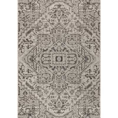 Estrella Bohemian Medallion Black/Gray 7 ft. 9 in. x 10 ft. Textured Weave Indoor/Outdoor Area Rug - Home Depot