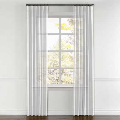 Convertible Drapery Linen Sheer - Optic White (Pair, Split Draw  ) - Loom Decor