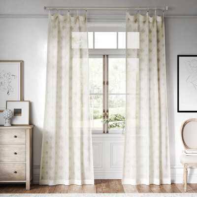 Hamilton Geometric Sheer Rod Pocket Single Curtain Panel - Wayfair