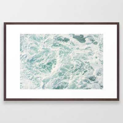 "seafoam xi Framed Art Print Conservation Walnut Frame 26""x38"" - Society6"