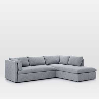 Shelter Set 1- Left Arm Sofa, Right Arm Terminal Chaise, Shelter Blue - West Elm