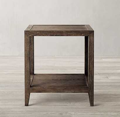 FRENCH CONTEMPORARY SQUARE SIDE TABLE - RH
