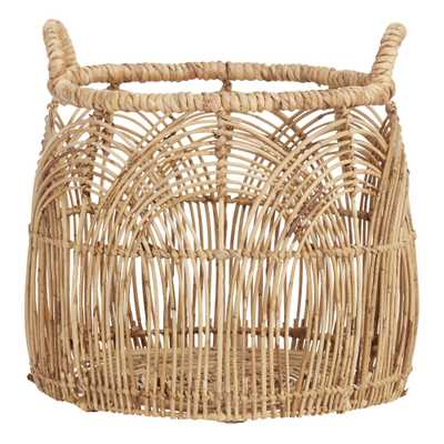 Small Natural Rattan Eve Basket - World Market/Cost Plus