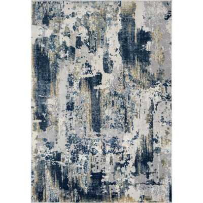 Astor Vintage Sapphire Blue/Gray Area Rug - Wayfair