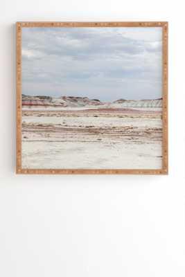 Painted Desert Framed Art Print, 30x30, Bamboo Frame - Wander Print Co.