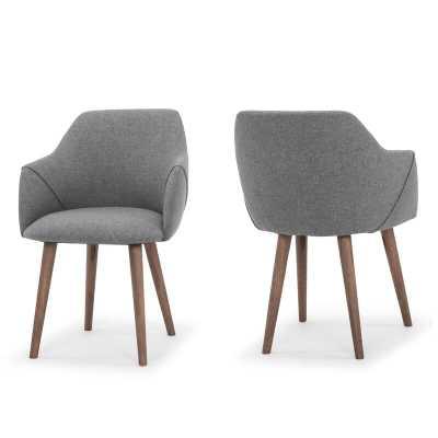 Creggan Upholstered Dining Chair, set of 2 - Wayfair