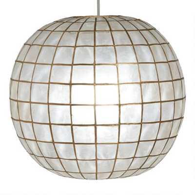 White Capiz Sphere Pendant Lamp - World Market/Cost Plus