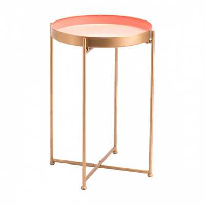 Red Tall End Table Pink - Zuri Studios