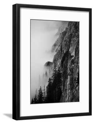 Black and White Silhouette of the Mountains - art.com