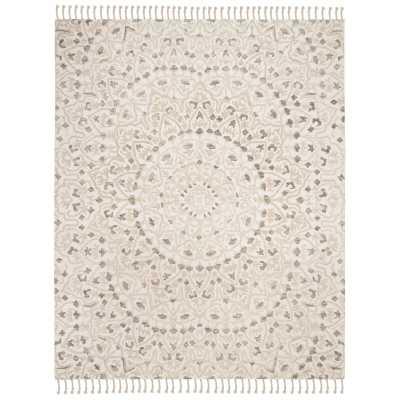 Bloomsbury Market Maravilla Handwoven Wool Ivory/Taupe Area Rug - 8'x10' - Wayfair