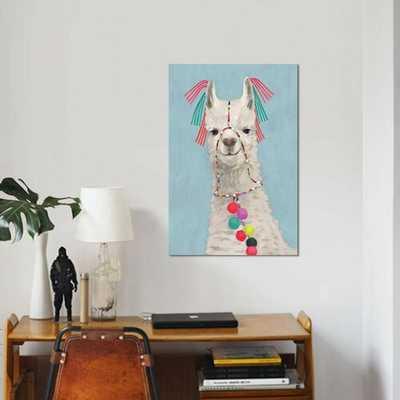 'Adorned Llama II' Graphic Art Print on Wrapped Canvas 26 x 18 - Wayfair