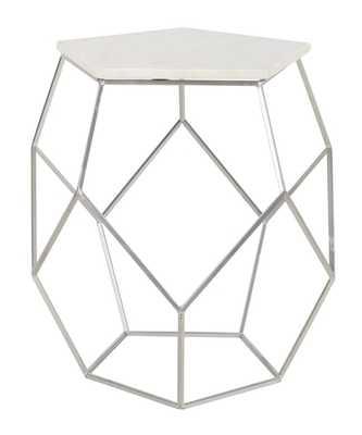 Abella Pentagon Accent Table - Silver - Arlo Home - Arlo Home