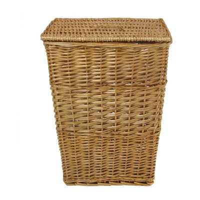 Honey Rectangular Willow Wicker Laundry Hamper - Wayfair