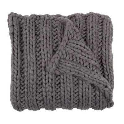 Kate and Laurel Chunky Knit Throw - Wayfair