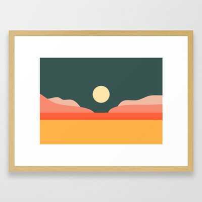 Geometric Landscape 14 Framed Art Print - Society6