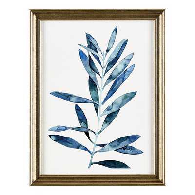 Ballard Designs Petite Blue Leaves Art, Print I - Ballard Designs