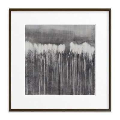 """The Forest // 30"""" x 30"""" // Moody Grey // Matte Black Metal Frame // Matted - Minted"""