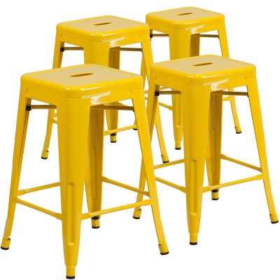 30'' Bar Stool - Yellow - set of 4 - AllModern