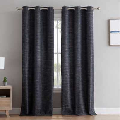 Middlewich Textured Solid Max Blackout Thermal Grommet Curtain Panels (Set of 2) - Wayfair