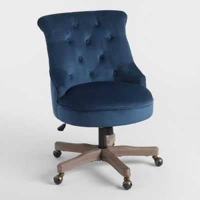 Ink Blue Elsie Upholstered Office Chair - Fabric by World Market - World Market/Cost Plus
