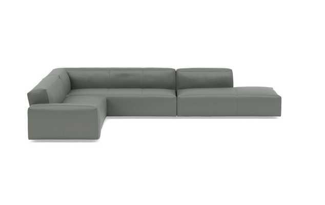CRAWFORD LEATHER Leather Corner Sectional Sofa - Interior Define