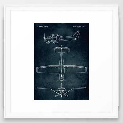 CESSNA 172 - First flight 1955 Framed Art Print - Society6