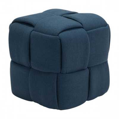 Checks Stool Navy Blue - Zuri Studios