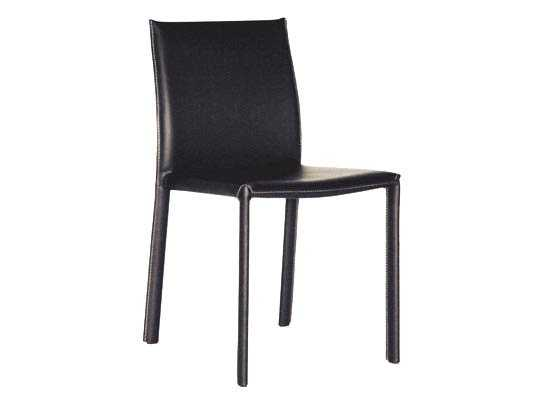Baxton Studio Black Burridge Leather Dining Chair (Set of 2) - Lark Interiors