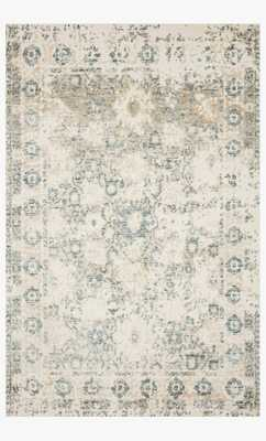 "LIS-03 MH Antique White / Aqua - 8'6""x12' - Magnolia Home by Joana Gaines Crafted by Loloi Rugs"