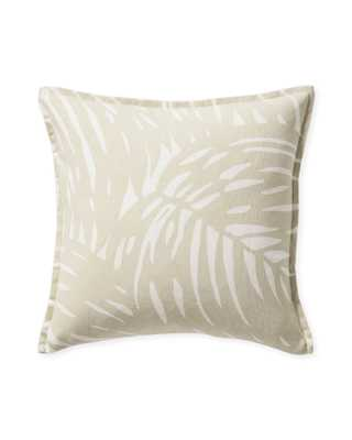 Palm Outdoor Pillow Cover - Natural - Serena and Lily