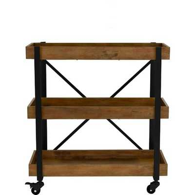 Grenada Bar Cart / Black - Wayfair