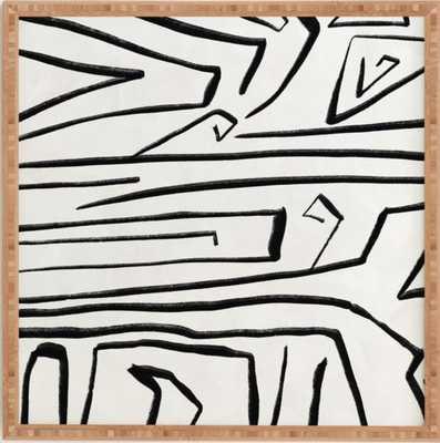 """MODERN IMPROVISATION 02 Framed Wall Art - 30""""x30"""" - Wander Print Co."""