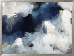 "Blues, 48"" x 36"" Giclee Print, Ronda Wide Silver 1.38"" Frame,  Standard Acrylic, Giclee Print - art.com"