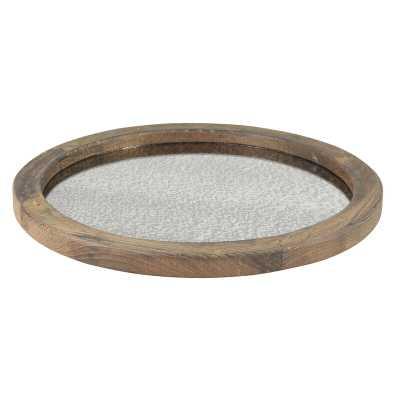 Tipton Round Wood Serving Tray - Wayfair