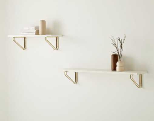Linear Lacquer Shelf, White, Large - West Elm