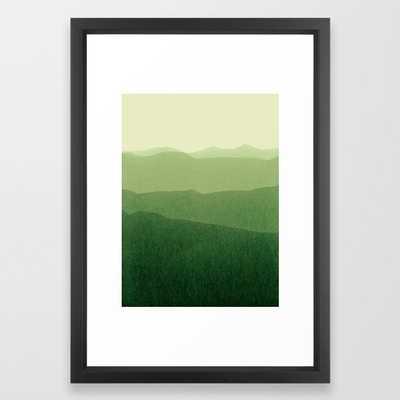 gradient landscape green Framed Art Print - Society6