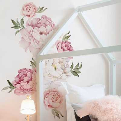 Peony Flowers Wall Decal- Mixed Pink - Wayfair