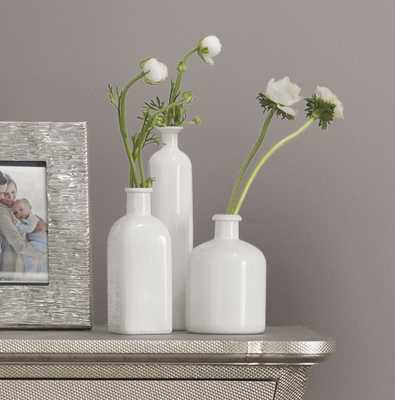 3 Piece White Table Vase Set - Wayfair