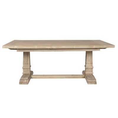 Parfondeval Leaf Extension Dining Table in Stone Wash - Birch Lane